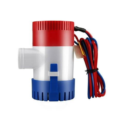 12V Vacuum Water Pump Submersible Marine Boat Bilge Pump 1100GPH Water Pump - image 1 de 5