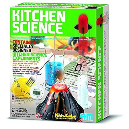 Kitchen Science Kit, Educational Toy 6 Experiments Chemistry Lab Convert Your Average Kitchen into a Science Lab ages 8 years and up, By 4M