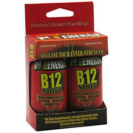 Image of 1st Step for Energy B12 Shot, Cherry Charge, 2 Ct, Pack of 3
