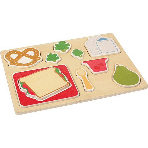 Guidecraft Sorting Food Tray, Lunch