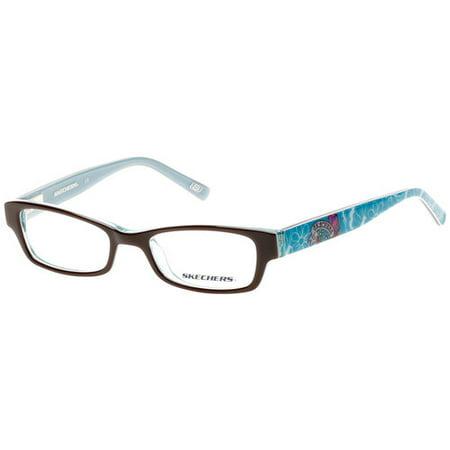 Skechers Girl\'s Eyeglass Frames, Brown/Teal - Walmart.com