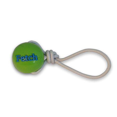 Guaranteed Chew (Planet Dog Orbee Tuff Dog Ball with Rope, Interactive Fetch-Tug-Chew Toy, 100% Guaranteed, Made in the USA, Medium, Green )