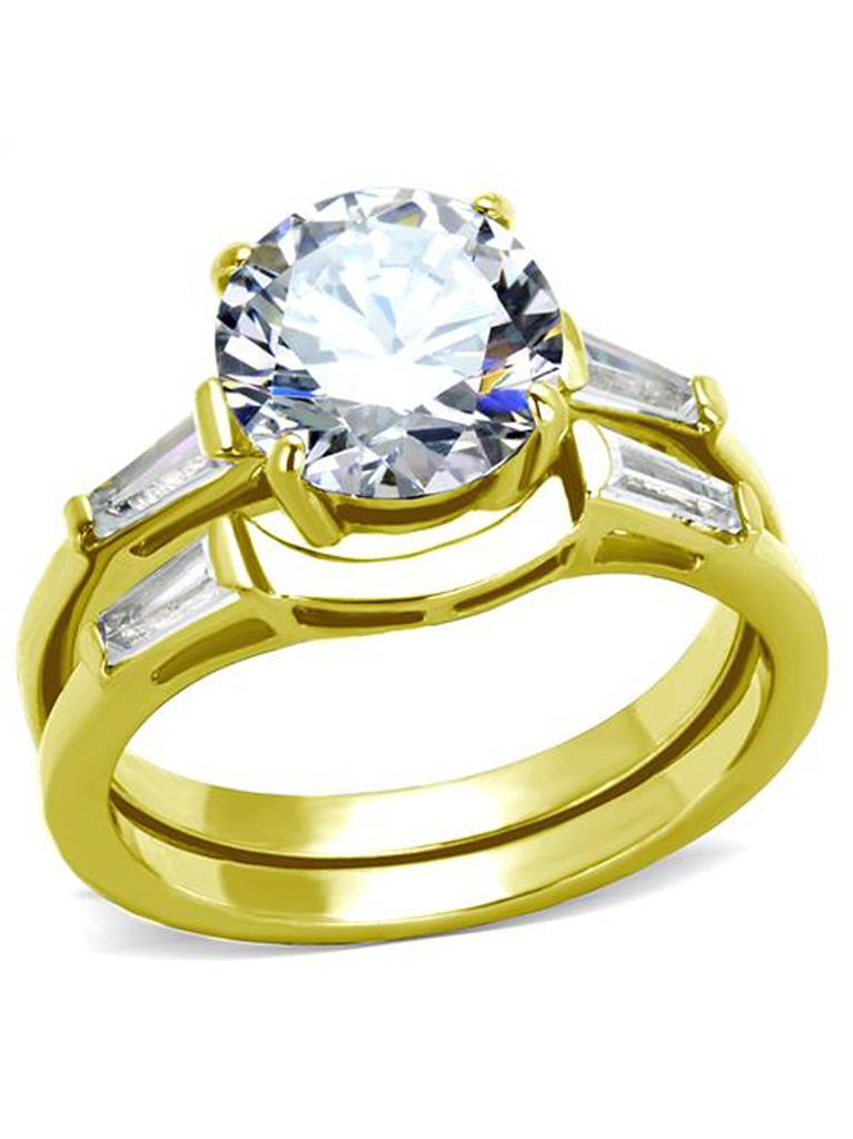 Details about  /2.75 Ct Round Cut Cubic Zirconia Stainless Steel Wedding Ring Set Womens Sz 5-10