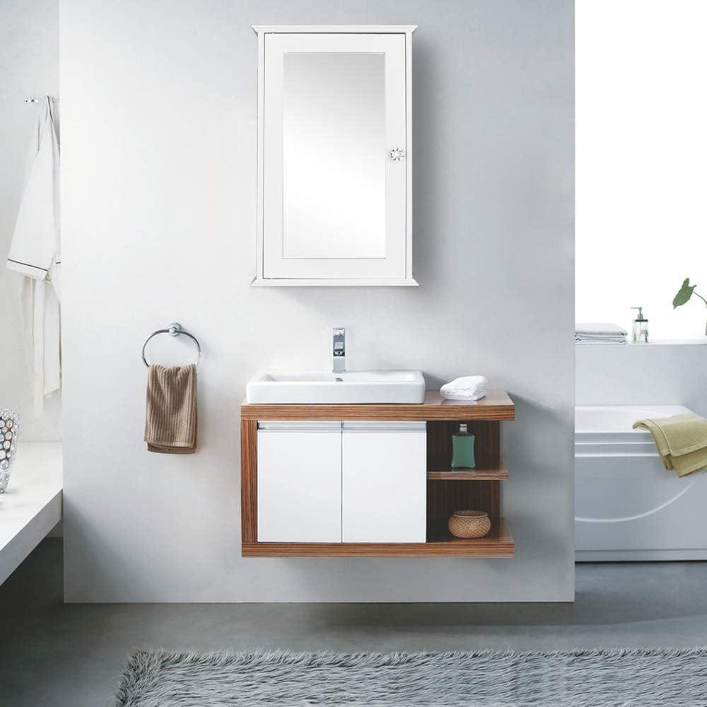 Ktaxon Mirrored Bathroom Cabinet Wall