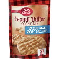 (2 Pack) Betty Crocker Value Size Peanut Butter Cookie Mix, 21 oz Pouch