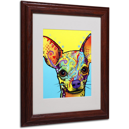 "Trademark Fine Art ""Chihuahua"" Canvas Art by Dean Russo, Wood Frame"