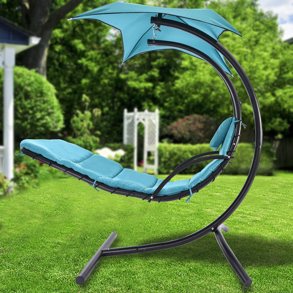 Zimtown Hanging Chaise Lounger Chair Arc Stand Air Porch