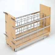 """Rev-A-Shelf 8"""" Pullout Wood Foil Wrap/Tray Divider Cabinet Organizer with Ball-Bearing Soft-Close Slides"""