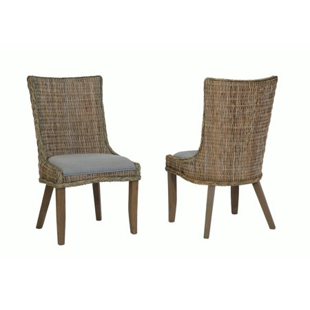 - Coaster Company Matisse Country Woven Dining Chair Set of Two, Grey Wash