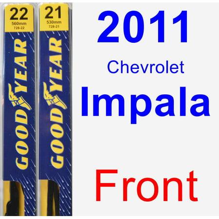 2011 Chevrolet Impala Wiper Blade Set/Kit (Front) (2 Blades) - Premium
