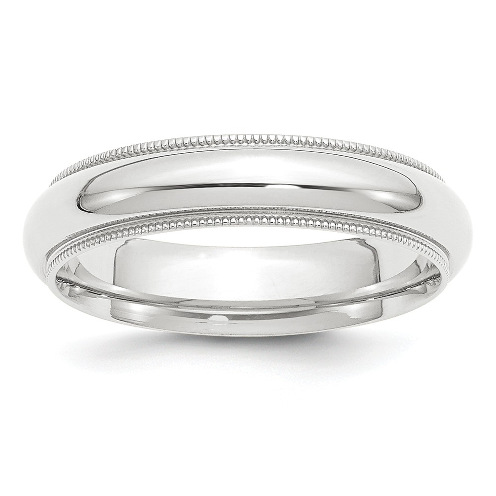 Platinum plated Comfort Fit Milgrain Wedding Band Ring Size 6 by Diamond2deal