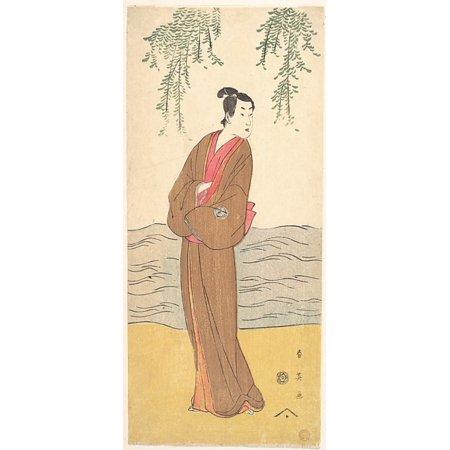 The Third Segawa Kikunojo As Hisamatsu Standing On The Bank Poster Print By Katsukawa Shunei  Japanese 1762 1819   18 X 24