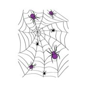 Make N Mold 5040HA Halloween Spider Favor Bags with Ties, Pack of 12