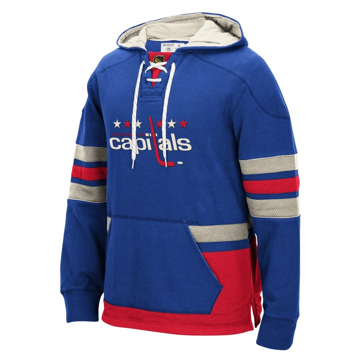 Washington Capitals CCM Men's Pullover Hoodie Blue