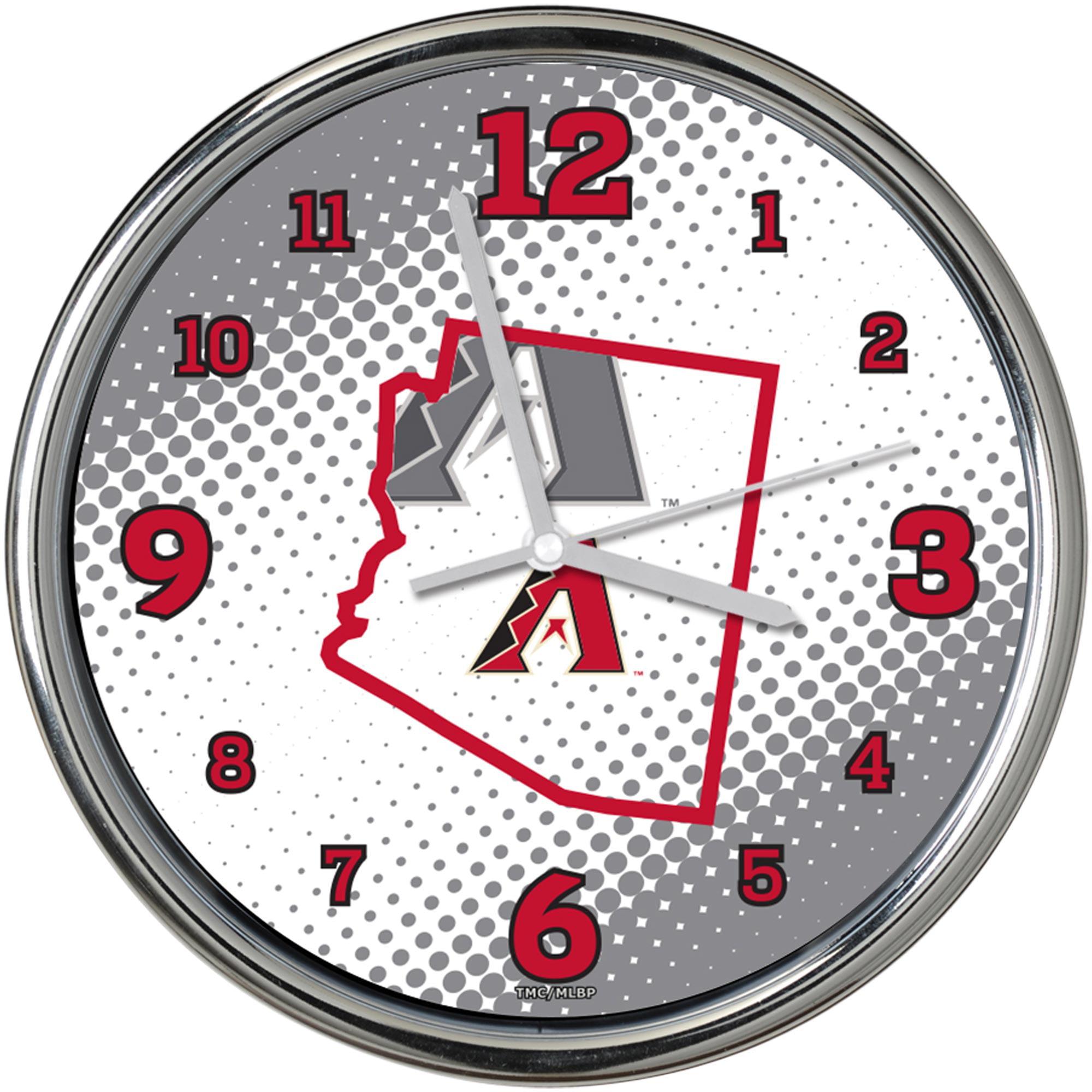 "Arizona Diamondbacks State of Mind 12"" Chrome Wall Clock - No Size"