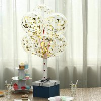 """Efavormart 10 Pack 12"""" Clear Confetti Balloons Party Balloons Filled With Confetti Dots"""
