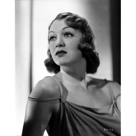 Eve Arden on Dress Looking Up Portrait Photo Print