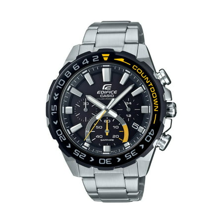 Casio Men's Edifice Solar Powered Chronograph Stainless Steel Watch