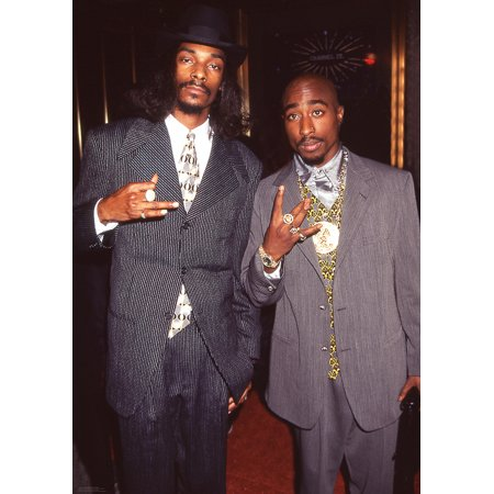 Snoop Dogg And Tupac Shakur Music 2Pac Rap Hip Hop Poster 24X36 Inch