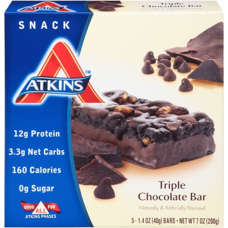 Atkins  Snack Triple Chocolate Bars 5 Pack