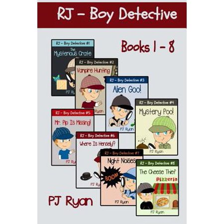 Rj - Boy Detective Books 1-8 : Fun Short Story Mysteries for Children Ages 9-12](Cute Halloween Short Stories)
