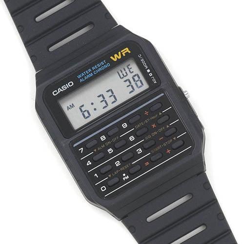 Classic Calculator and Calendar Watch