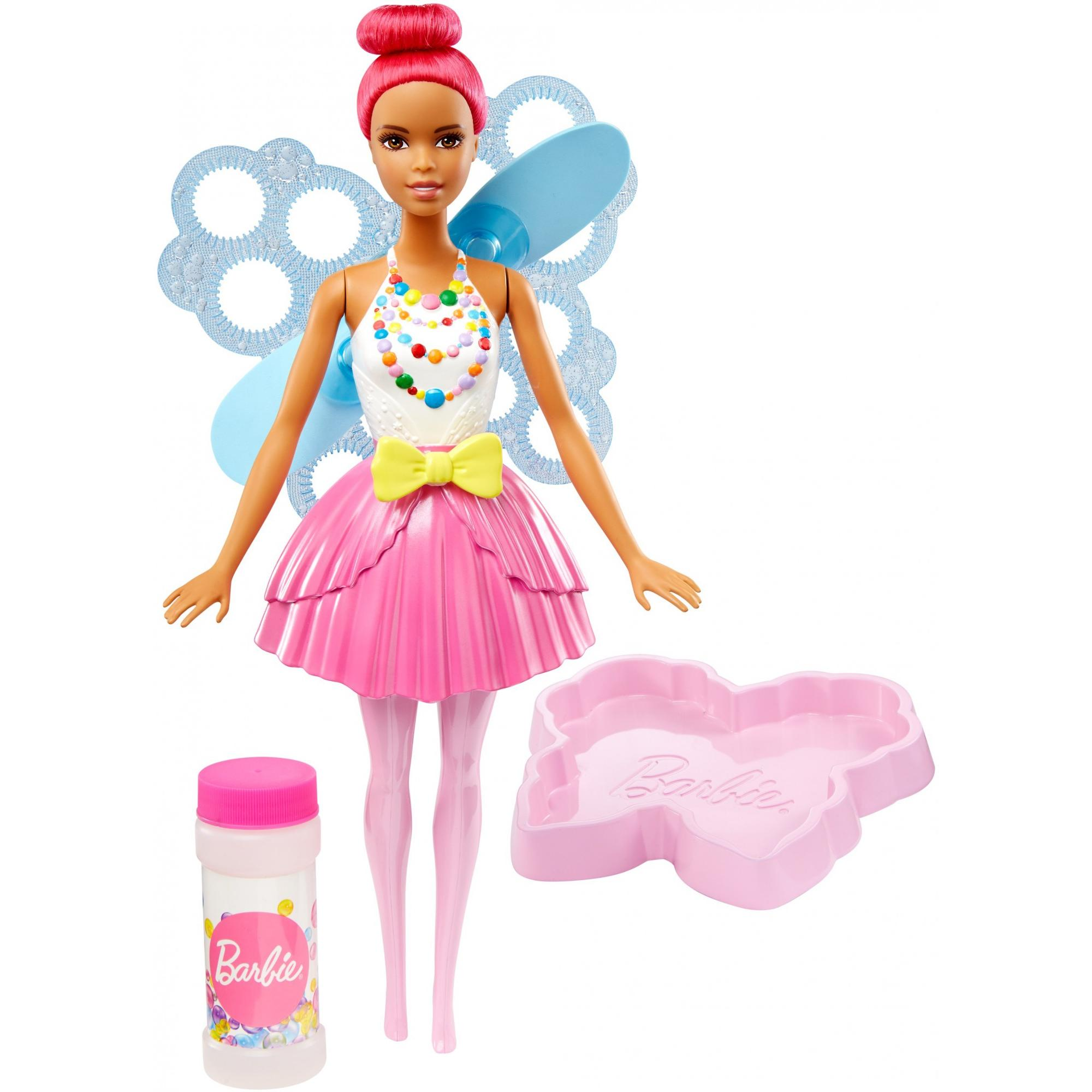 Barbie Dreamtopia Bubbletastic Pink Fairy Doll, African American by MATTEL INC.