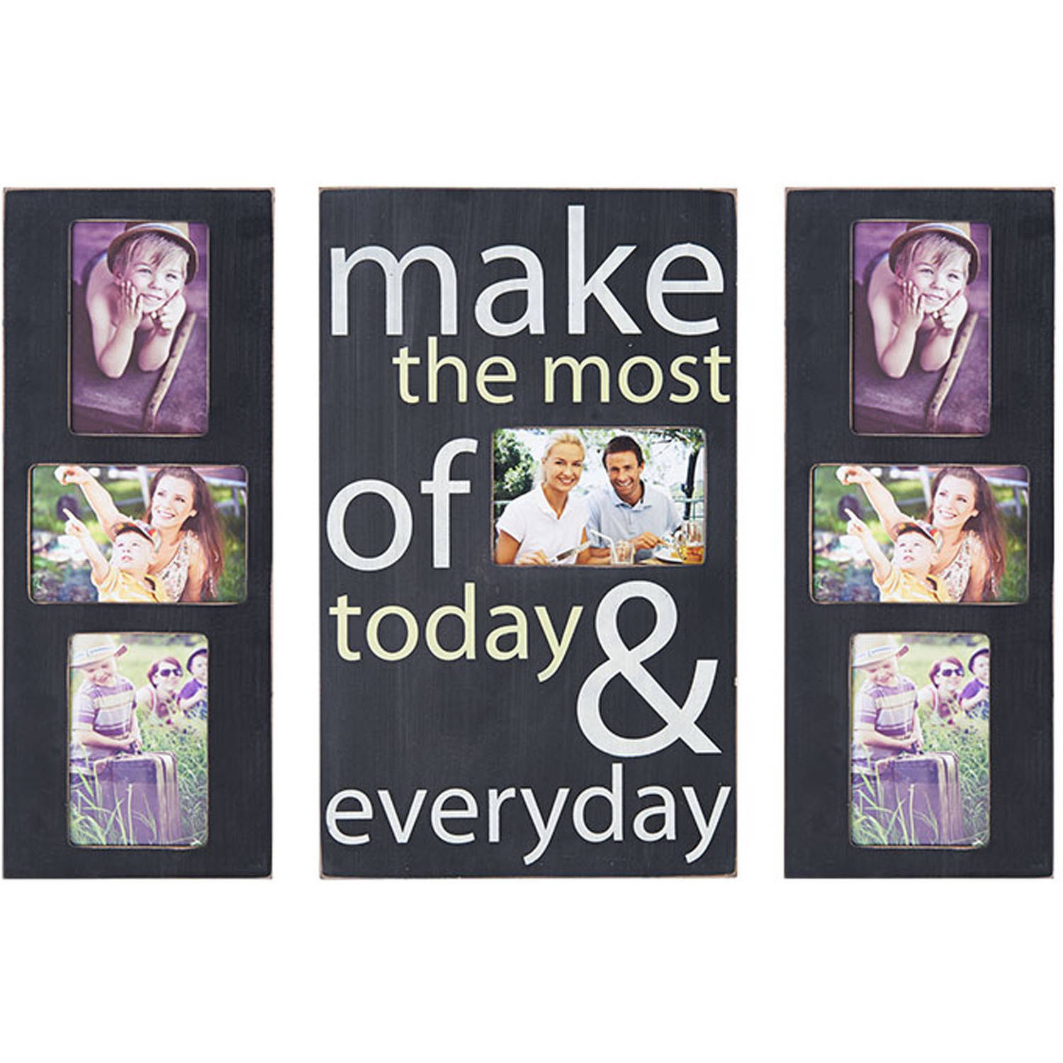 Melannco Sentiment Collage Plaque Set Make, The Most Of Today And Everyday, Set of 3