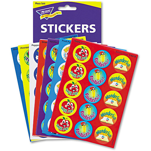 Trend Stinky Stickers Variety Praisewords Stickers - Round - Self-adhesive - Acid-free, Non-toxic, Photo-safe, Scented -