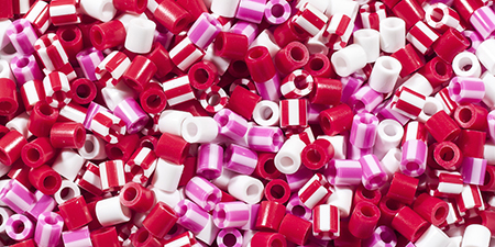 """/""""Pony Beads 6mmX9mm 1,000//Pkg-Opaque Multicolor/"""""""