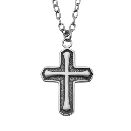 Antique Cross Brushed Stainless Steel Pendant (Brushed Cross Pendant)