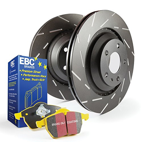 EBC Brakes S9KR1043 S9 Kits Yellowstuff and USR Rotors Incl. Rotors and Pads