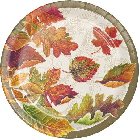 - Colors of the Wind Thanksgiving Fall Leaves 8 Ct Dessert Paper Plates