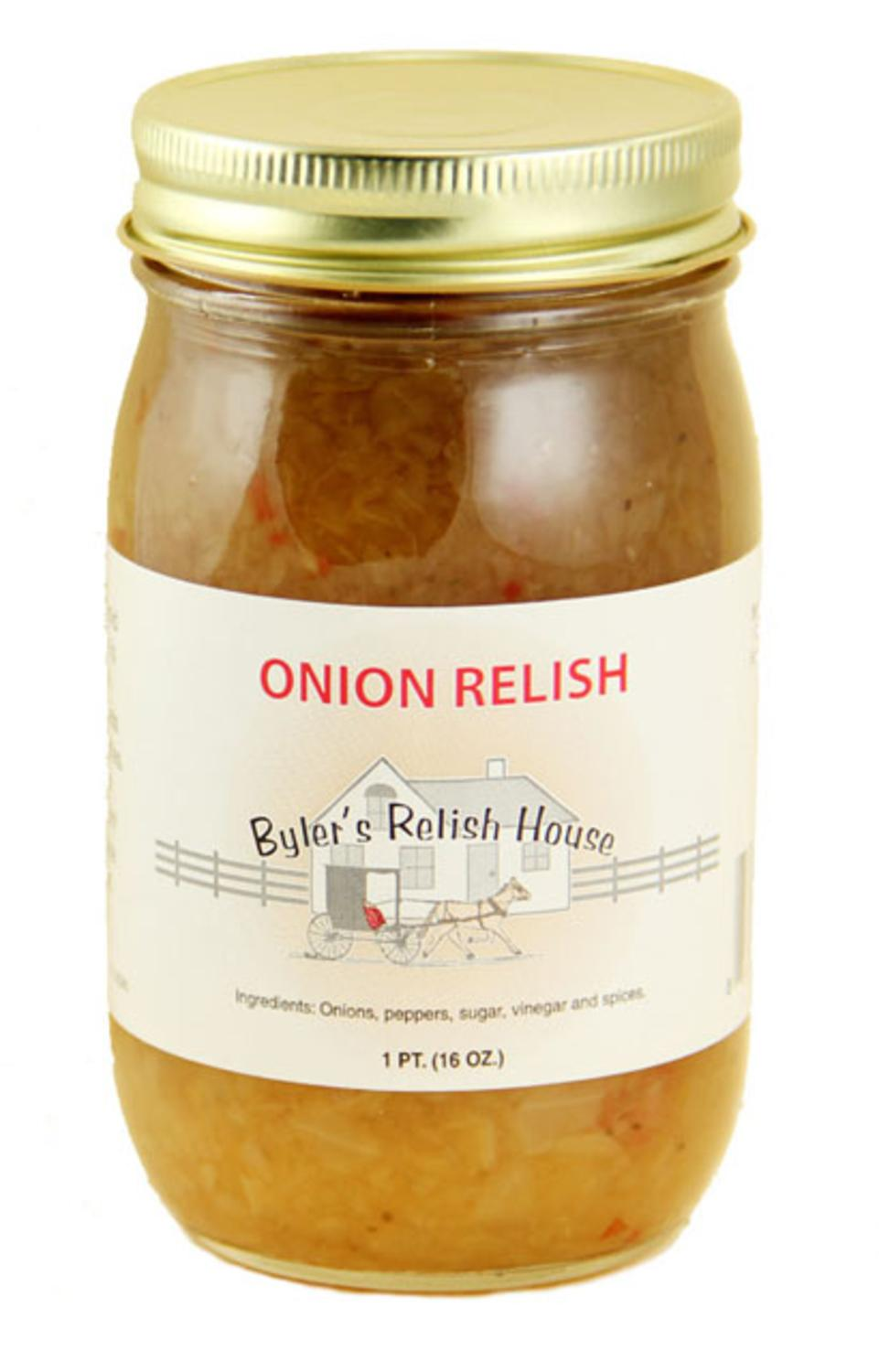 Byler's Relish House Homemade Amish Country Onion Relish 16 oz. by Byler's Relish House