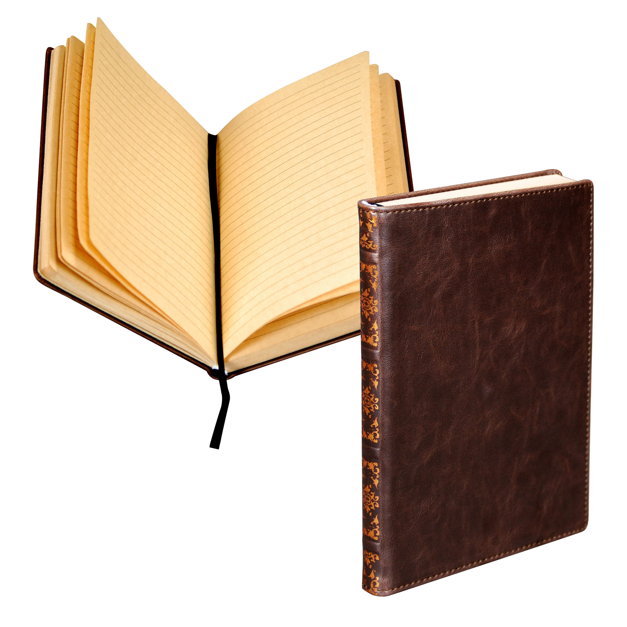 "Samsill Vintage Style Hardbound Writing Notebook Journal, 5.25""x8.25"", Dark Brown"