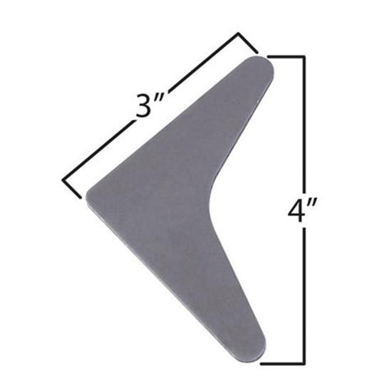 Large Solid Roll Bar Gussets Pack of 5
