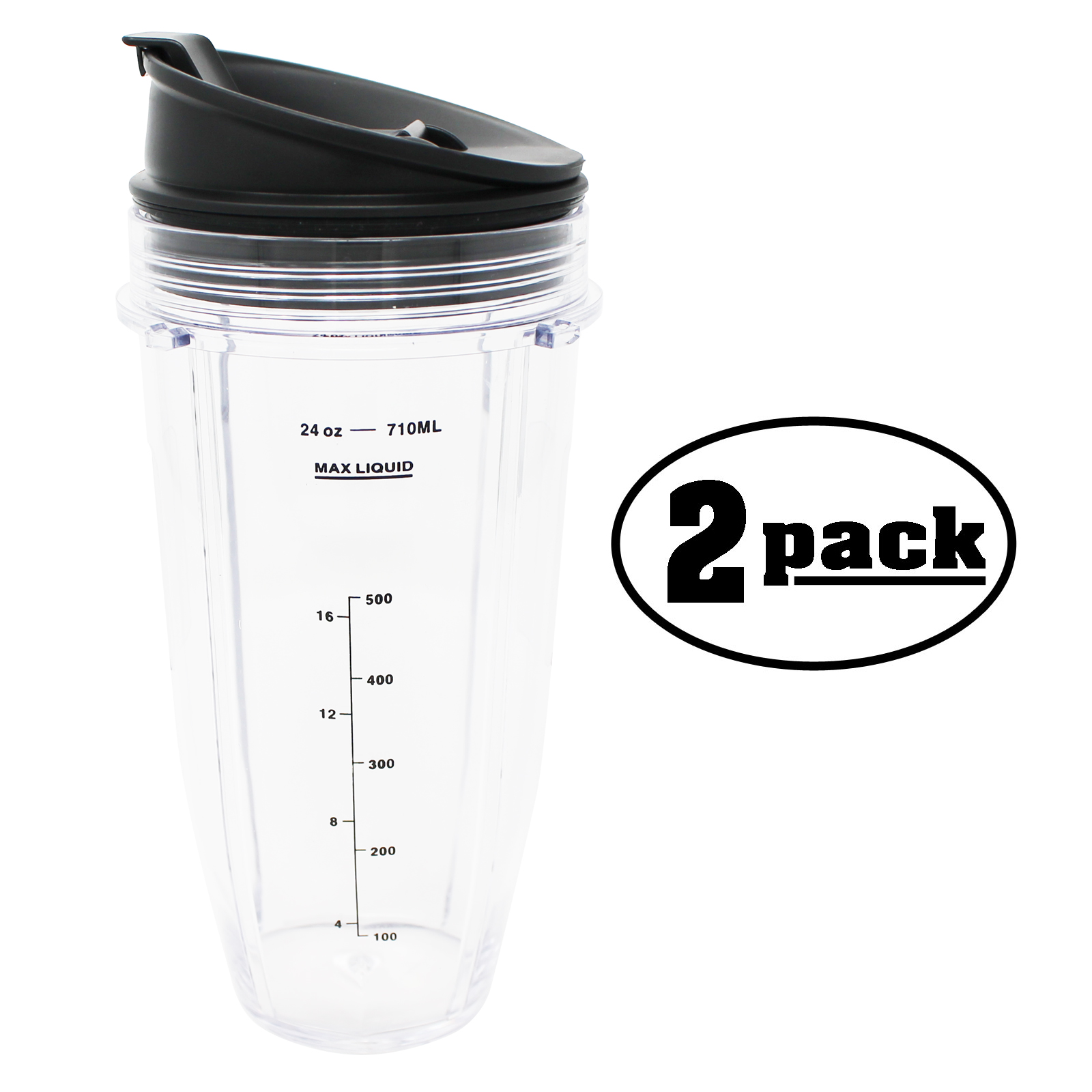 2-Pack Replacement 24 oz Nutri Ninja Cup 103KCP for BL490 Nutri Ninja Blender - image 3 de 3