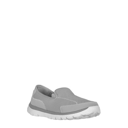 Athletic Works Women's Medium and Wide Width Knit Slip on (Camp Sport Shoe)