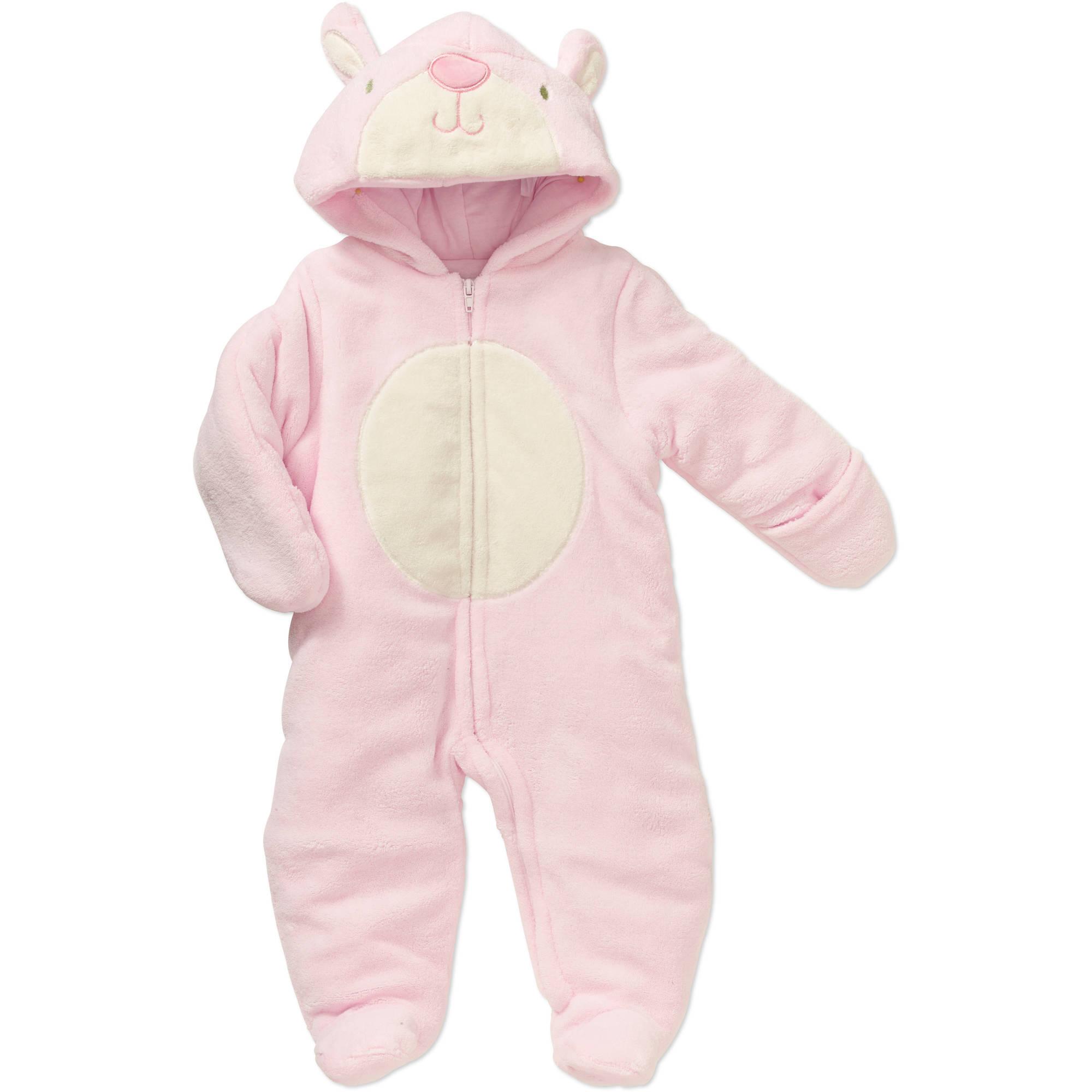 Quiltex Newborn Baby Girls' Fleece Bunny Pram