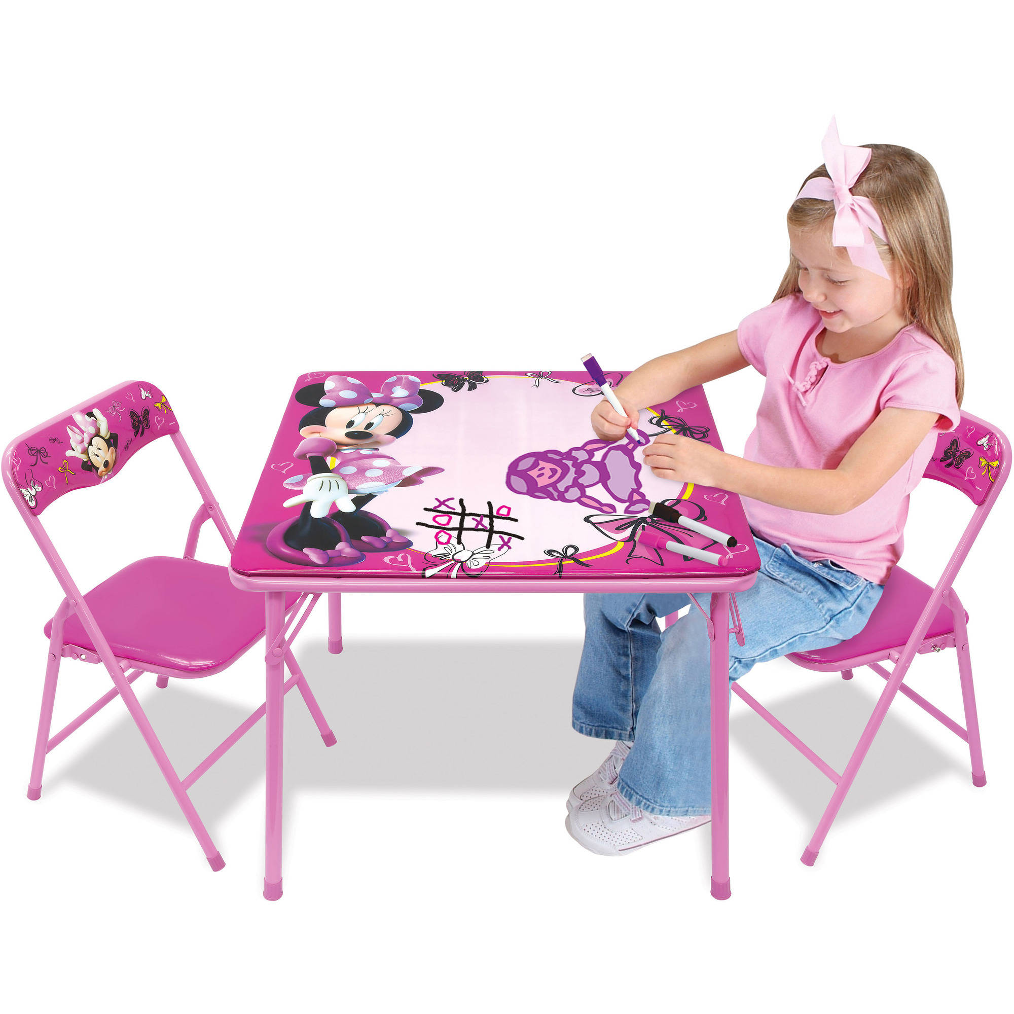 Disney Minnie Mouse Erasable Activity Table Set with 3 Markers