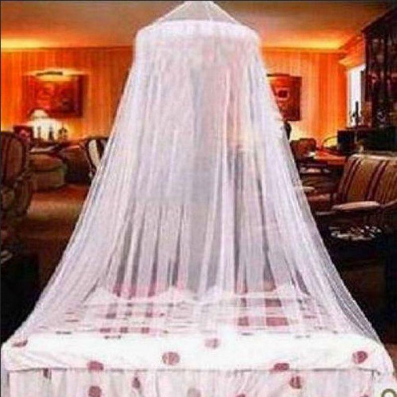 Elegant Lace Mosquito Netting Mesh Princess Round Dome Bedding Net