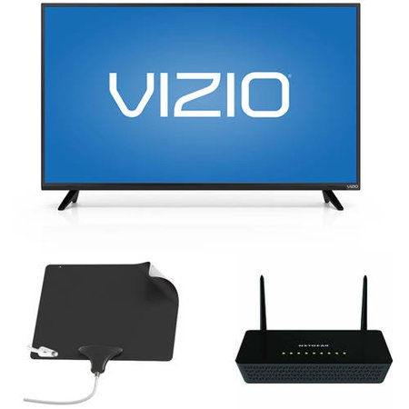 VIZIO 43; 1080p Smart HDTV, NETGEAR Wifi Router, Mohu Leaf Ultimate Bundle – Cut the Cable