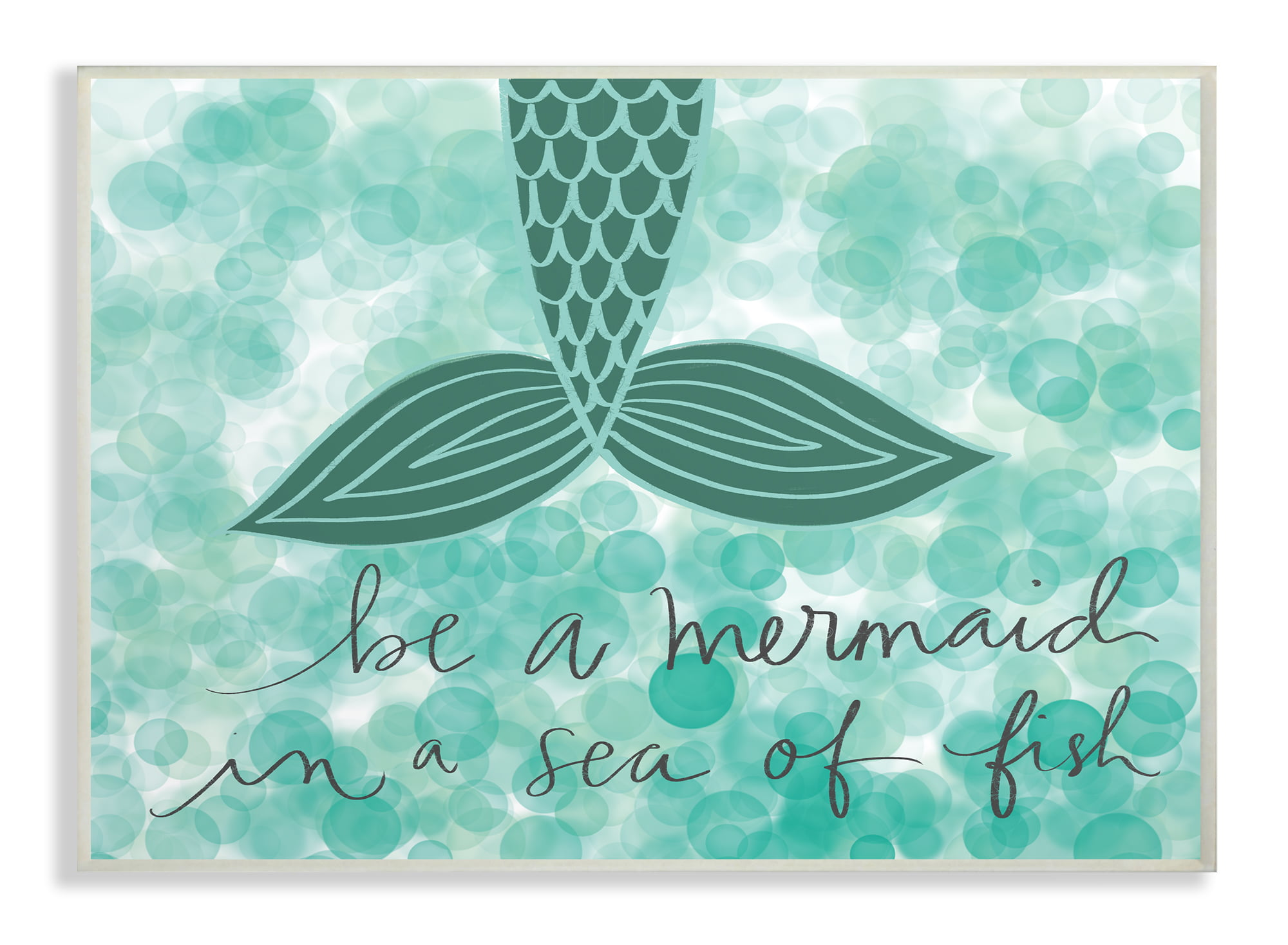 The Kids Room by Stupell Lets Blue and Pink Swimming Mermaid Wall Plaque Art 10 x 15 Multi-Color
