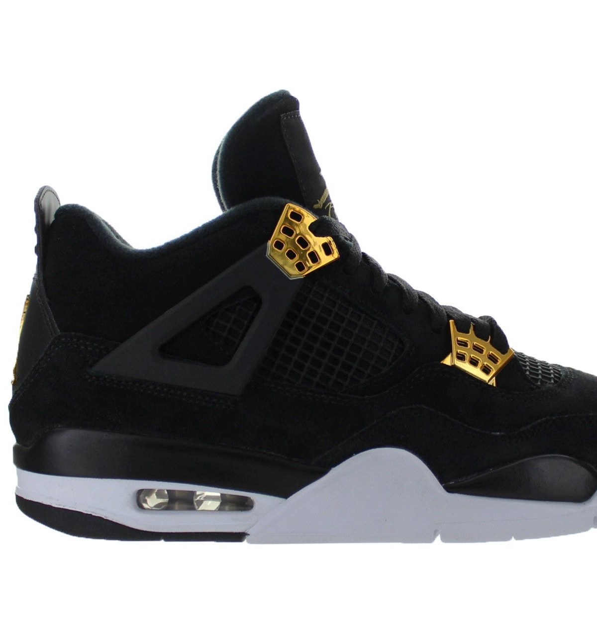 fc3a34309c6a Mens Air Jordan Retro 4 IV Royalty Black Metallic Gold White 308497 ...