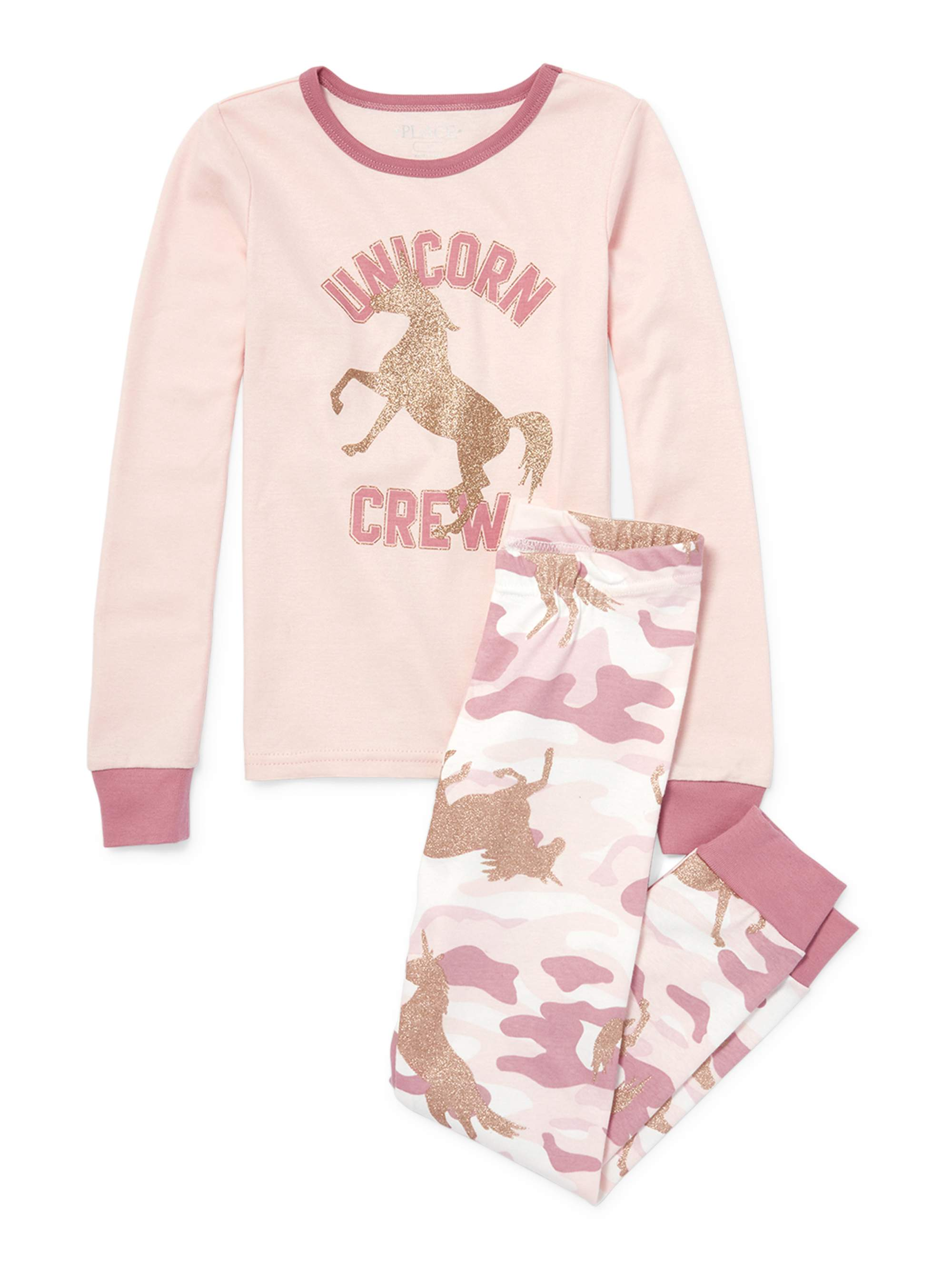 Girl's Unicorn Crew Long Sleeve Pajamas (Big Girl & Little Girl)