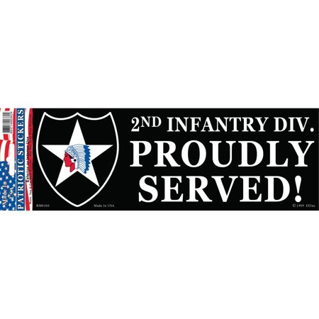 2nd Infantry Division Proudly Served Bumper Sticker
