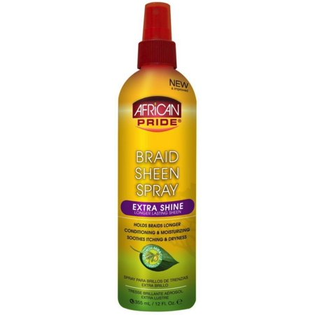 African Pride Braid Sheen Spray, Extra Shine 12 oz African Pride Braid Spray