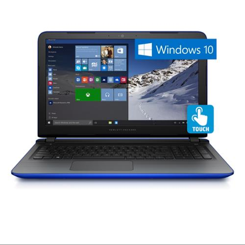 """Refurbished HP Pavilion 17-g128ds Intel N3700, 17.3"""" LED Touchscreen, Win 10 Notebook (Blue)"""