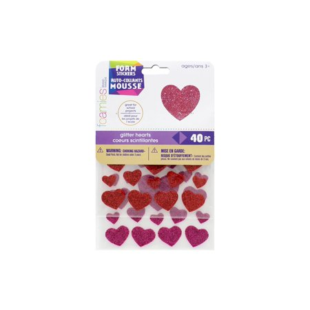 Darice Foamies Sticker Glitter Hearts (Darice Foamies Stickers Glitter)