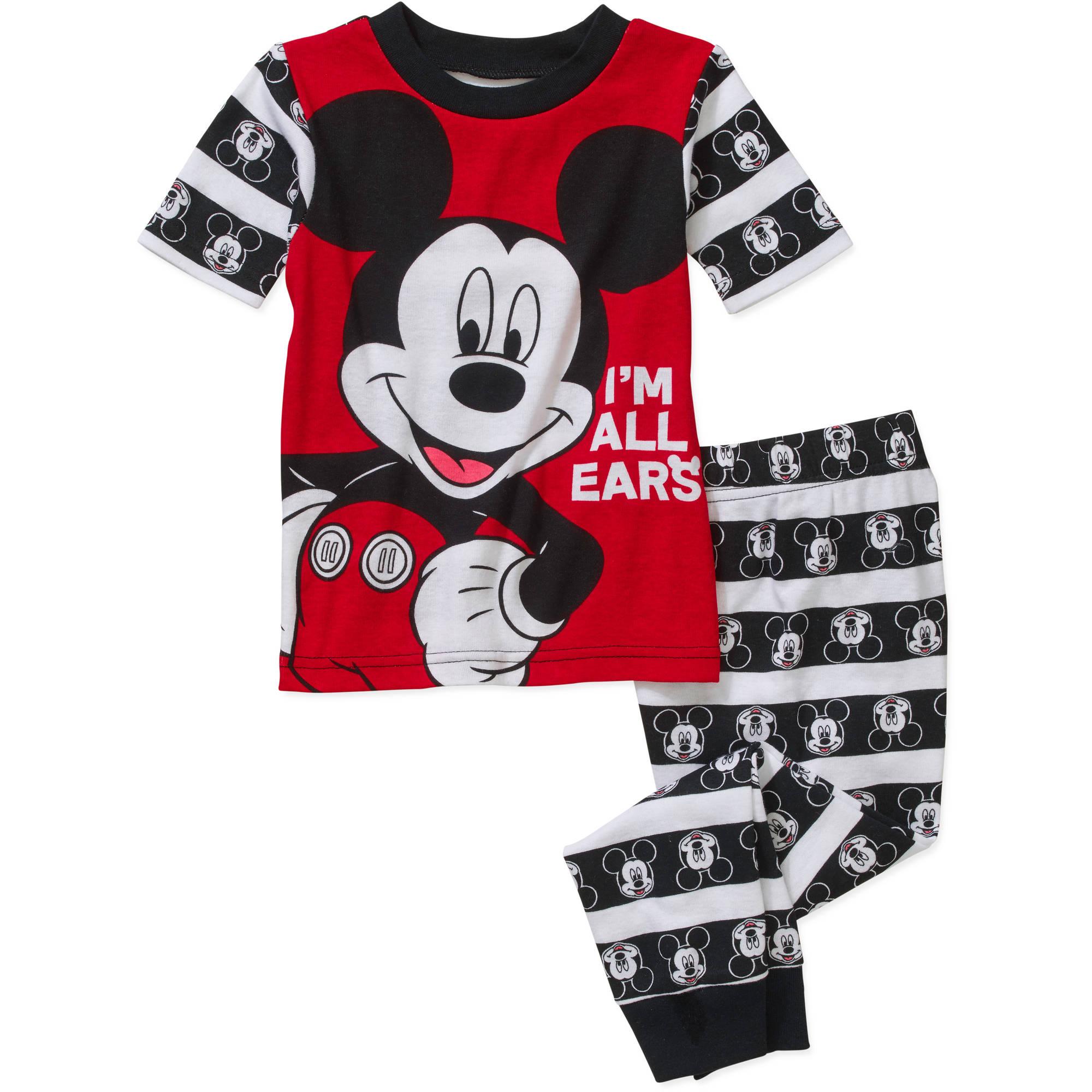 Mickey Toddler Boy Licensed Cotton Pajama Sleepwear Set